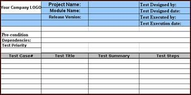 Software Test Results Template by Sle Test Template With Exles