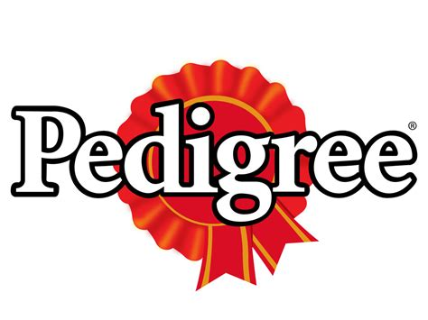 Yellow Bathroom pedigree dog food logo