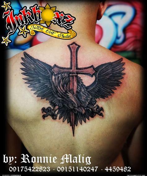 tattoo cross eagle eagle cross tattoo tattoo artists org