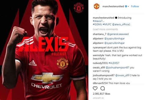 alexis sanchez instagram video man utd news alexis sanchez set new record for january