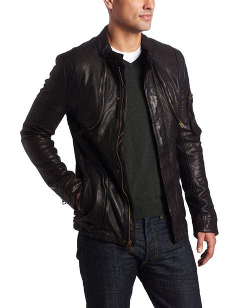 s leather cargo jacket