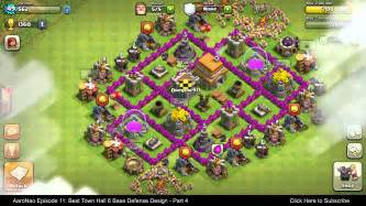 Best town hall level 6 th6 base defense design layout strategy for