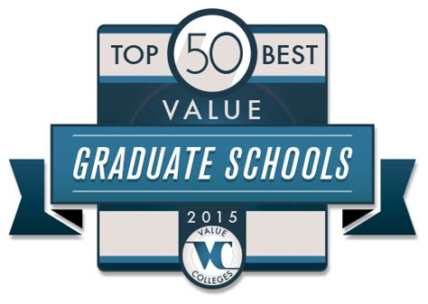 Mba Homeland Security by Top 50 Best Value Graduate Schools Of 2015 Value Colleges