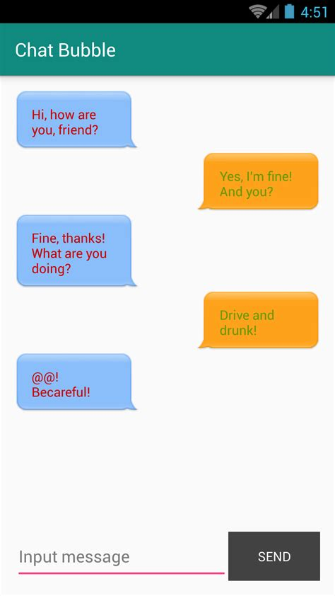 chat layout in android exle design chat bubble ui in android learn programming together