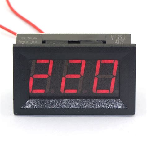 Volt Meter Cr45 300 V Acdc ac 75 300v led display voltage meter ac 110v 220v