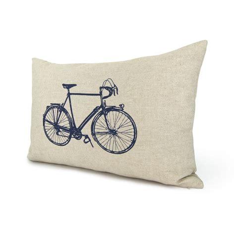 modern bicycle pillow 12x18 lumbar pillow cover