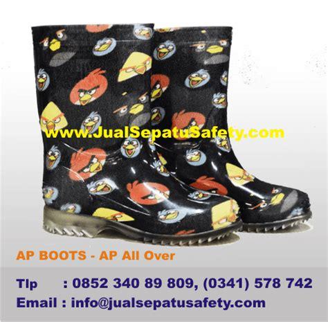 Toko Sepatu Ap Boot Di Bekasi jual sepatu boot anak gambar angry birds hitam jualsepatusafety