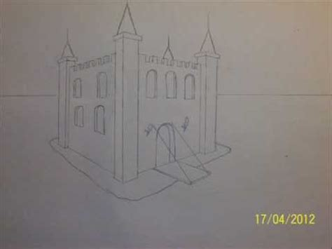 2 Drawings In 1 by How To Draw A Castle In 1 Minute Step By Step With