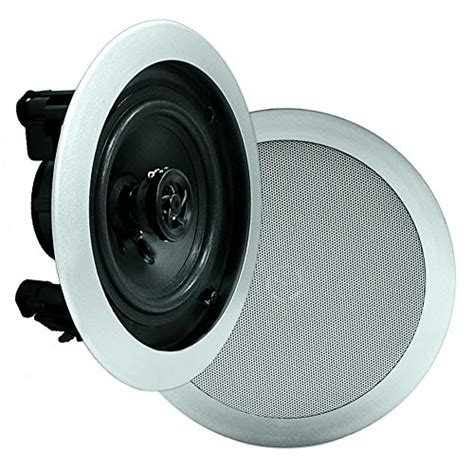 Flush Mounted Ceiling Speakers by Pyle Pdic81rdsl In Wall In Ceiling Dual 8 Inch Speaker