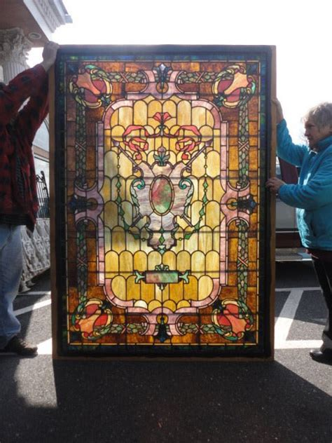 Antique Stained Glass Doors For Sale Antique Stained Glass Windows Doors For Sale In Pennsylvania Oley Valley Architectural