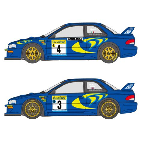 subaru racing decals 1 24 subaru impreza 555 monte carlo rally 1997 98 decals