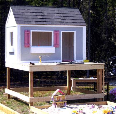 build  simple playhouse deck simple playhouse play