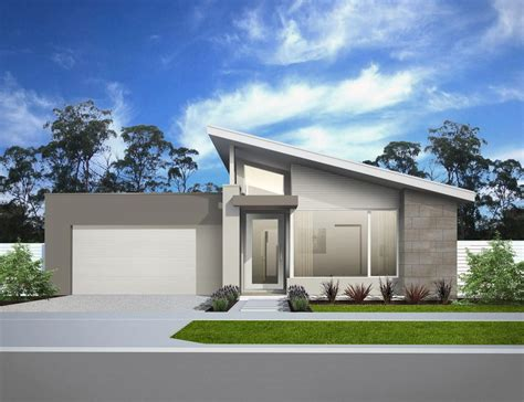 modern skillion roof home facade modern