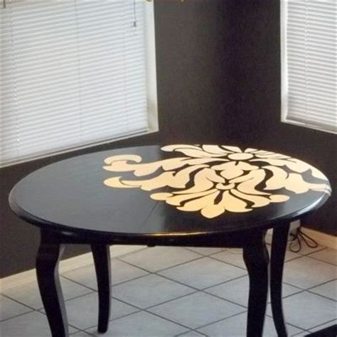 25 best ideas about stenciled dining table on
