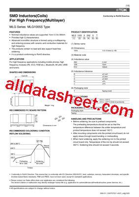 tdk capacitors datasheet mlg1005s22njt datasheet pdf tdk electronics