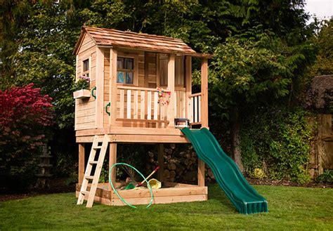 Little Cedar Playhouse 6 X6 With Sandbox By Outdoor Living
