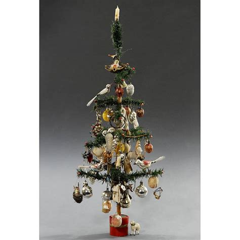 544 german feather christmas tree c 1920 lot 544