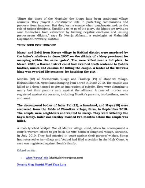 Against Honour Killing Essay by Honour Killing Essay Let S Stop Talking About Honour Killing There Is No Honour In Honour