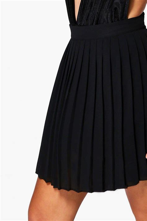 boohoo womens cate chiffon pleated mini skirt ebay