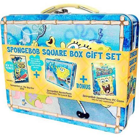 spongebob box galleon spongebob square box gift set lunchbox dvd