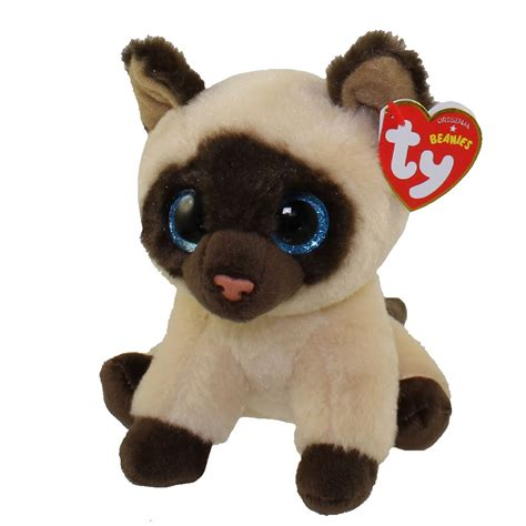 ty beanie babies ty beanie baby jaden the siamese cat 6 inch bbtoystore toys plush trading