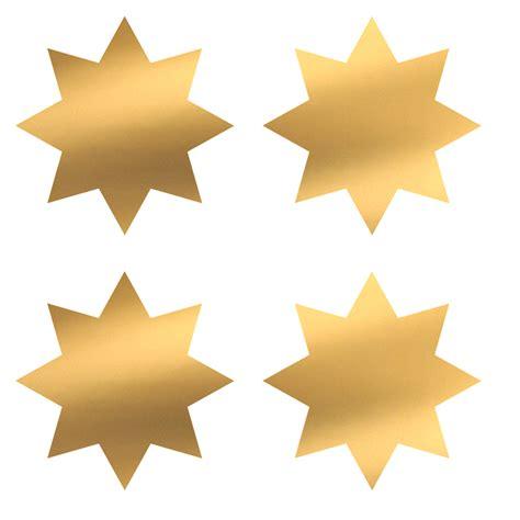 Aufkleber Sonne Gold by 20 Sterne Sticker In Gold 8zackig
