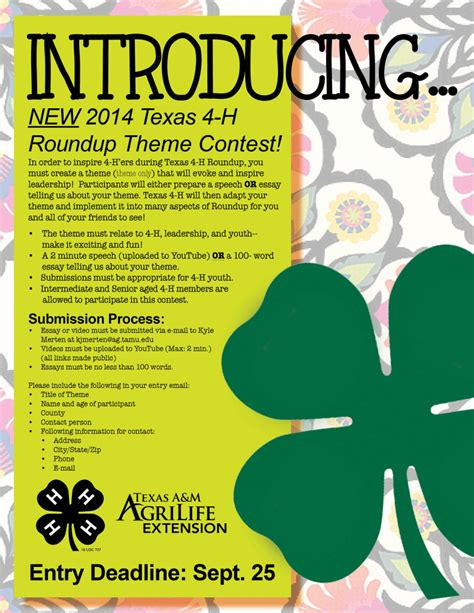 contest 2013 usa theme introducing the new 4 h roundup theme contest