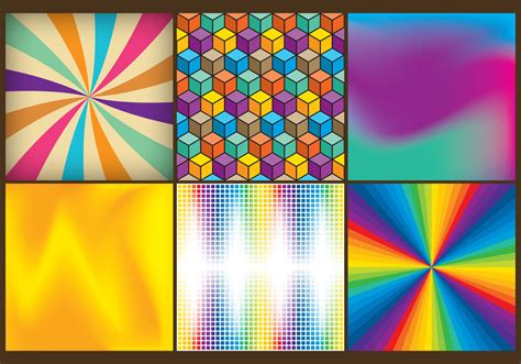 pattern color patterns in color free vector stock