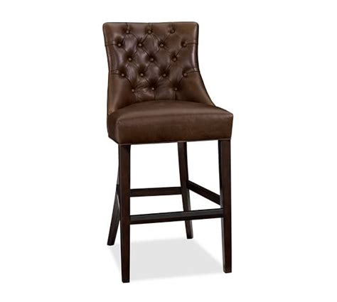 Pottery Barn Bar Stools Clearance by Tufted Leather Barstool Pottery Barn