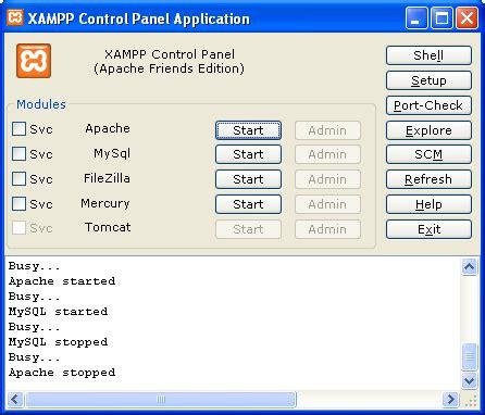 xp tutorial for mysql instalasi mysql di windows xp menggunakan xampp mysql