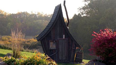 Tiny Cabin these tiny rustic buildings look like they belong in a