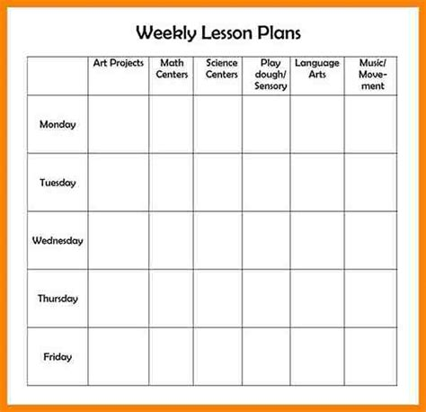 12 lesson plan templates free hr cover letter