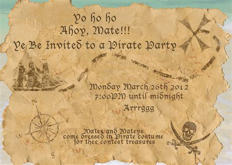 treasure map invitation template pirate invitation template invitation template