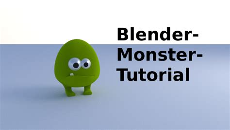 Tutorial Blender Monster | gurublog blender monster tutorial material animation