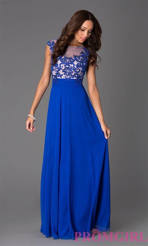 Sleeve Floor Length Dresses by Floor Length Cap Sleeve Illusion Lace Prom Dress