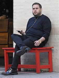 York Weight Bench Jonah Hill Looks Thin As He Has Cigarette Break On A