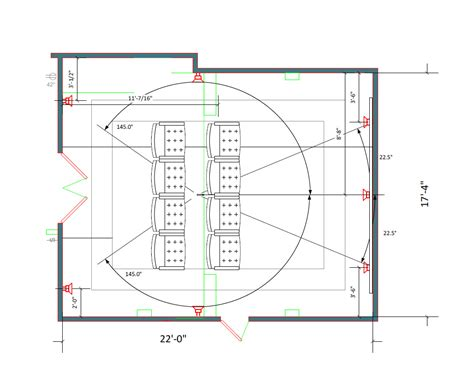 media room design layout media room layout 22 x 17 4 quot