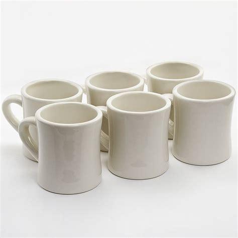 10 Oz Thick Ceramic Coffee Mugs - diner coffee mugs 6 set ceramic ceramics shops