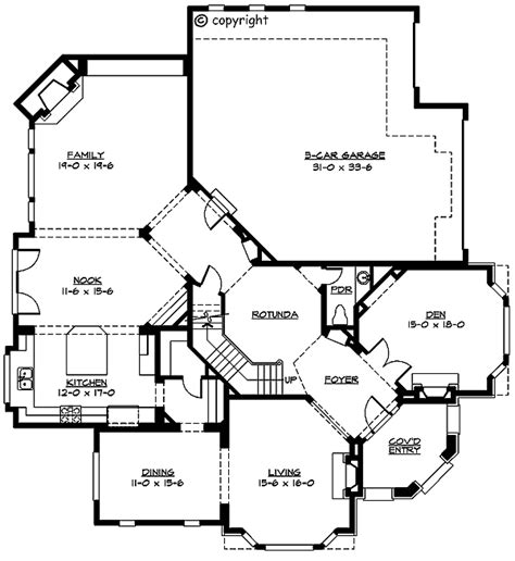 unusual floor plans unique 2 story rotunda 2326jd 2nd floor master suite