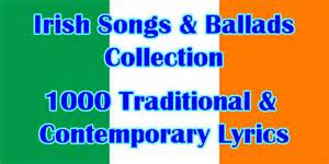 song and ballad lyrics list of available titles