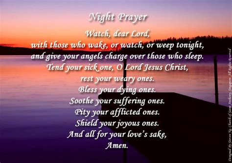 prayer before bed catholic daily prayer whispers of the heart