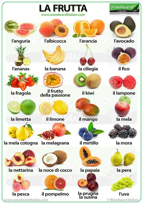 fruit names fruit in italian italian