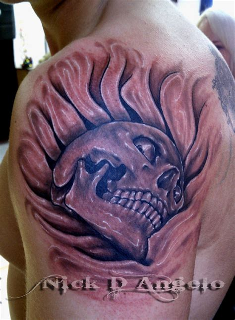 3d skull tattoo designs 50 coolest 3d designs echomon