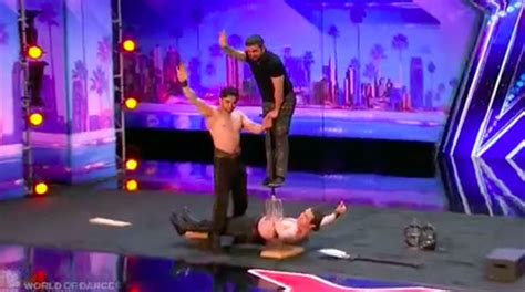 america s got talent act azeri brothers wows with dangerous act on america s got talent 2017
