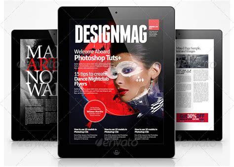digital magazine templates awesome digital magazine templates for tablets 56pixels