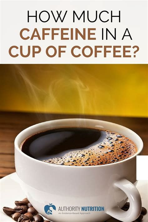 how much caffeine in a cup of coffee a detailed guide