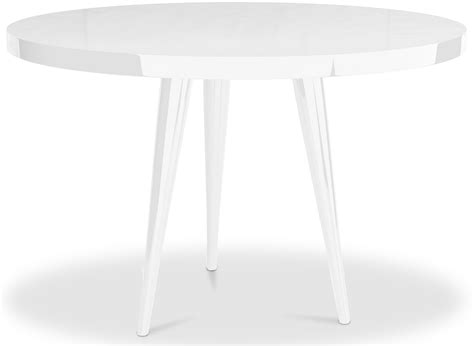 table ronde haute qualit 233 laqu 233 blanc kare lestendances fr