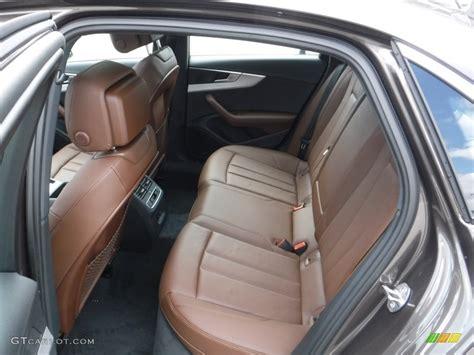 audi a4 brown interior nougat brown interior 2017 audi a4 2 0t premium plus