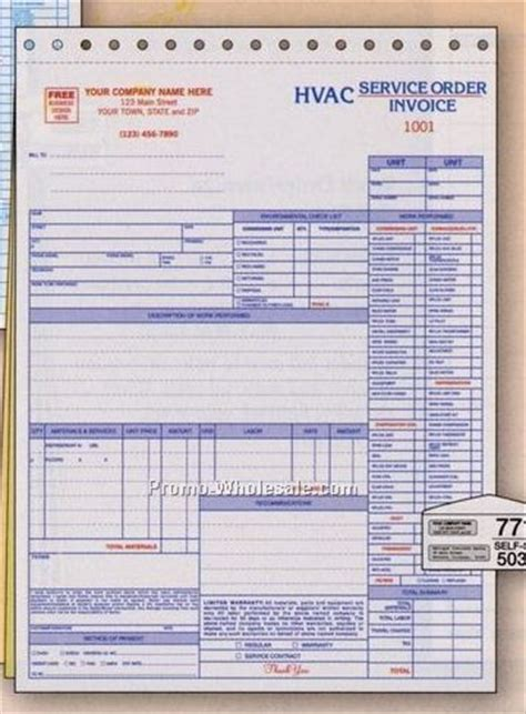 hvac service invoice template free 8 best images of hvac service invoice template free hvac