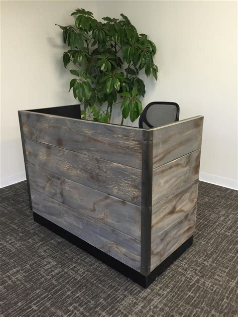 Custom Made Reception Desk Buy A Handmade 14 Distressed Wood Reception Desk Made To Order From Design Fabrication